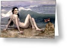 Catherine Duchess Of Cambridge Nude  Greeting Card by Karine Percheron-Daniels