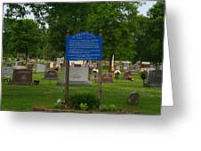 Catholic Cemetery Greeting Card