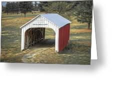 Catlin Covered Bridge  Greeting Card