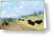 Catlin: Elk & Buffalo Greeting Card