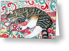 Catnap Time Greeting Card