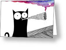 Catnip  Greeting Card by Andrew Hitchen