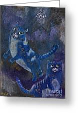 Cats And Reiki Greeting Card