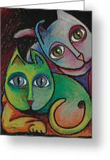 Cats I  2000 Greeting Card