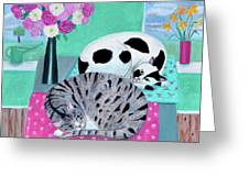 Cats In Spring Greeting Card