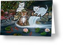 Cats In The Wild Greeting Card