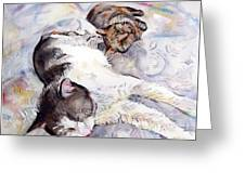 Cats In Watercolor Greeting Card