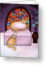 Cats Waiting Greeting Card