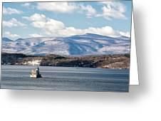 Catskill Mountains With Lighthouse Greeting Card