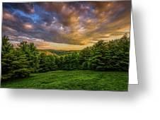 Catskill Sunset Greeting Card