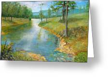 Cattle Cooling Pond Greeting Card by Max Mckenzie