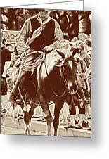 Cowboy Comtemplation Greeting Card