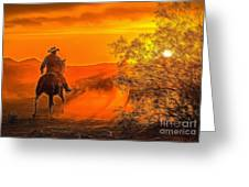 Cattle Drive 45 Greeting Card