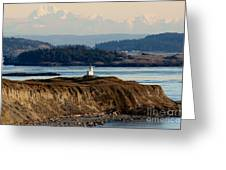 Cattle Point Lighthouse San Juan Island Greeting Card
