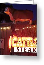 Cattlemen's Neon Stock Yards Greeting Card
