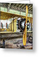 Caudron G3 Propeller And Cockpit - Vintage Greeting Card