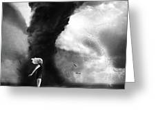 Caught In The Storm Greeting Card