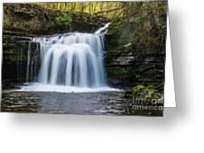 Cauldron Falls,west Burton, North Yorkshire. Greeting Card