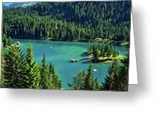 Caumasee Lake Switzerland Greeting Card
