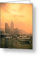 Causeway Bay At Sunset Greeting Card