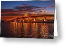 Causeway Sunrise Greeting Card