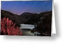 Raining Stars Greeting Card