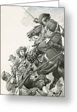 Cavalry Charge Greeting Card