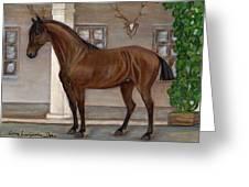 Cavalry Horse Greeting Card by Anna Folkartanna Maciejewska-Dyba