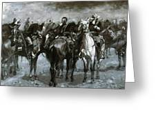 Cavalry In An Arizona Sandstorm 1889 Greeting Card