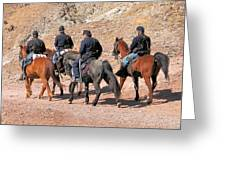 Cavalry Rides Greeting Card