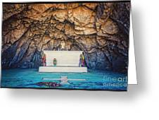 Cave Altar Setting Greeting Card