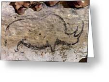 Cave Art: Rhinoceros Greeting Card