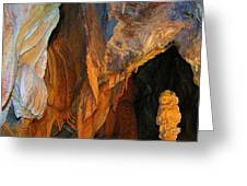 Cave At Cheddar Gorge  Greeting Card by Jen White
