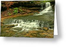 Cave Falls Landscape Greeting Card