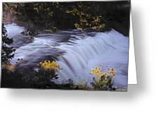 Cave Falls Greeting Card