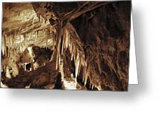Cave Interior Greeting Card
