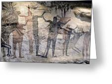 Cave Painting Of Prehistoric Man Greeting Card