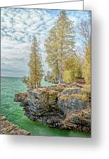 Cave Point Bluffs 2 Greeting Card