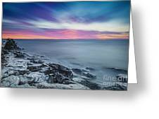 Cave Point Sunrise Greeting Card