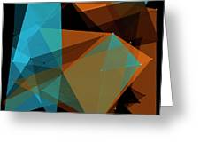 Cave Polygon Pattern Greeting Card