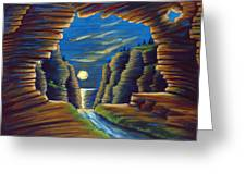 Cave With Cliffs Greeting Card
