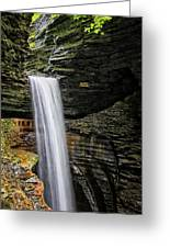Cavern Cascade In Watkins Glen Greeting Card