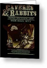 Caverns And Rabbits Greeting Card