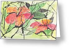 Cayenas Atrapadas  Hibiscus Greeting Card