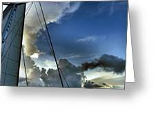 Cayman Nite Sky Greeting Card
