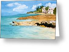 Cayman Shoreline Greeting Card