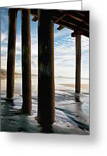 Cayucos Pier Greeting Card by Sharon Foster