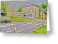 Cayuga Rail Crossing Greeting Card