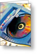 Cd Player Greeting Card
