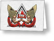 C.d.c.r. Crisis Response Team - C.r.t. Patch Over White Greeting Card